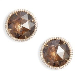 NWT Kate Spade Gold Quartz Stud Earrings
